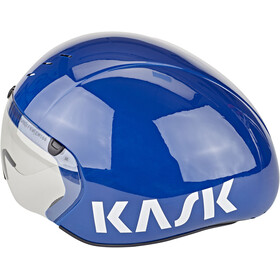 Kask Bambino Pro Kask rowerowy dodatkowo wizjer, blue